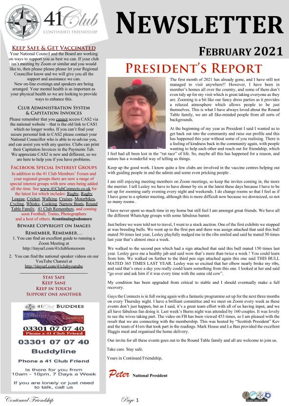 Newsletter Feb21
