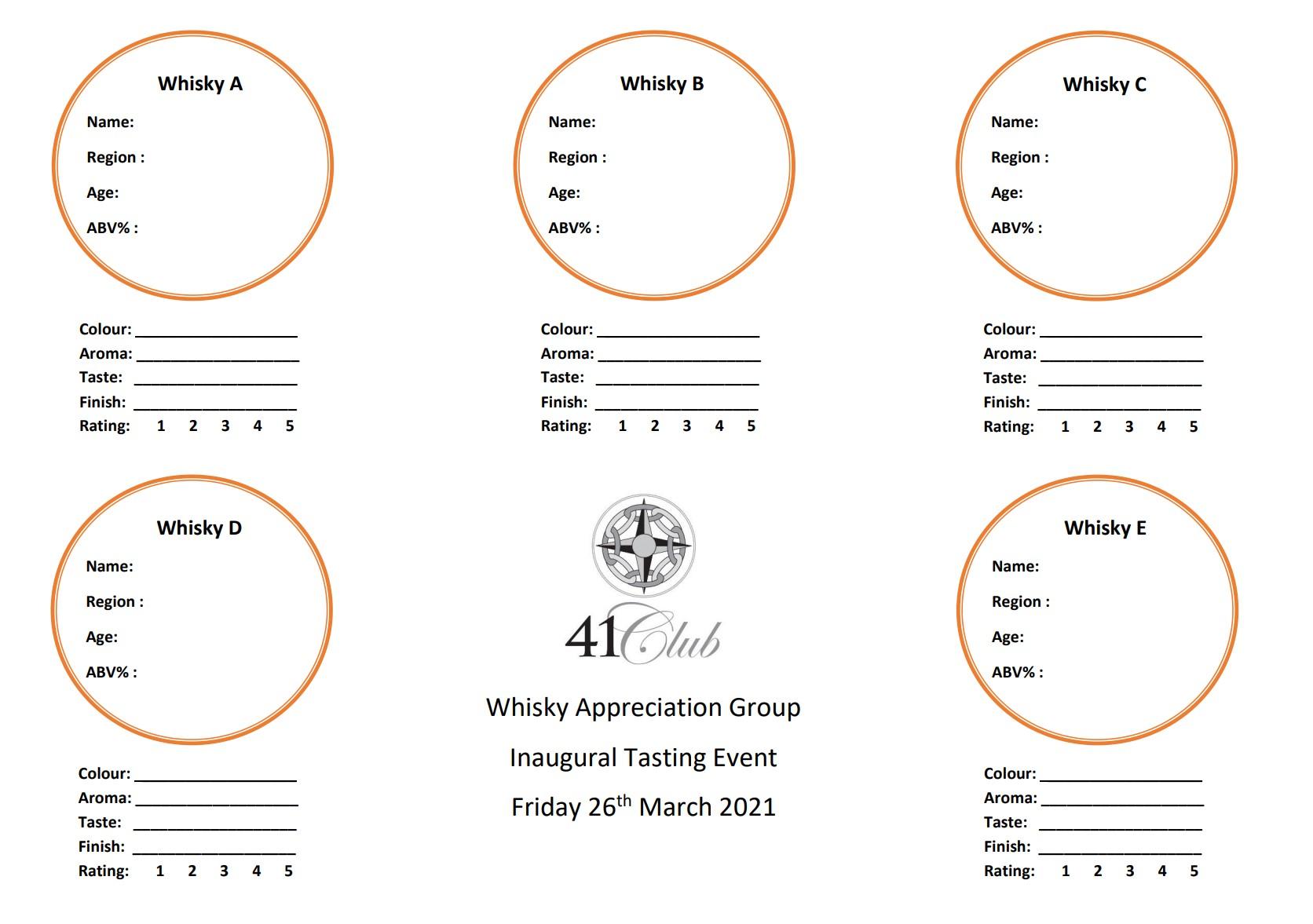 Whisky Tasting Mat