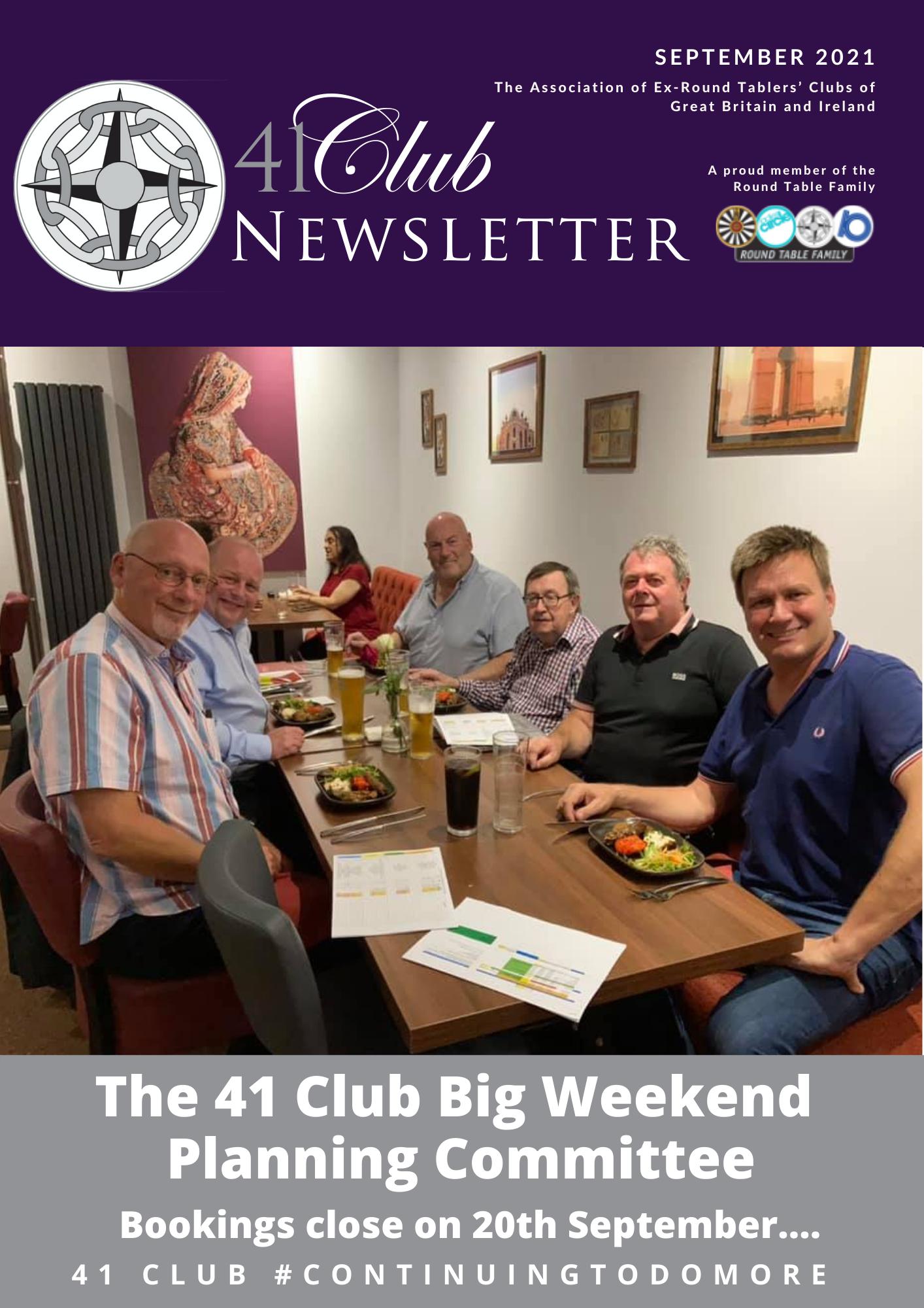 September 2021 41 Club Newsletter